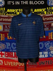 5/5 France adults XL 2012 home original football shirt jersey trikot soccer