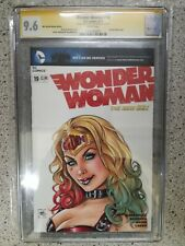 WONDER WOMAN #19 CGC SS 9.6 HARLEY QUINN COSPLAY COLOUR SKETCH BY MIKE KROME