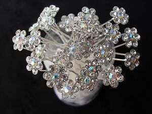 10pcs flower crystal bridal hair pins clips accessories hairpins wedding party A