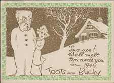 'Toots and Bucky' 1949. Christmas  (ZR.54)