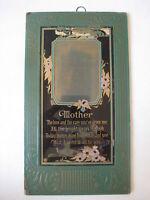 antique Mother motto art nouveau PICTURE FRAME photoplating craft deco print vtg