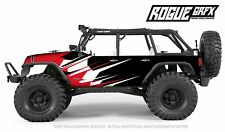 Axial SCX10 Rubicon or CRC Edition Body Graphic Wrap Skin- Go Fast Red