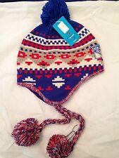 New York Rangers NEW Womens Winter Knit Hat with Tassels & Pom . NHL Hockey Warm