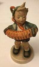 "Vintage Goebel Hummel Figurine ACCORDION BOY #185 TMK3 Sticker Squeezebox 5.25""T"