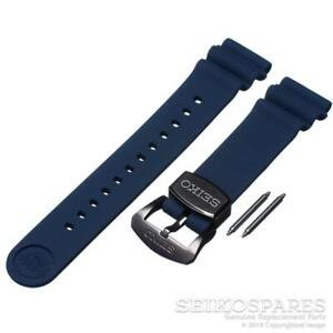 Seiko Watch Band SRPD09 SRP777 SRP779 SRPB11 SRPB53 SRPC91 Blue 22 mm Silicone