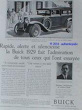 PUBLICITE AUTOMOBILE BUICK PROPRIETAIRES MAURICE DIOR NEMOURS DE 1929 FRENCH AD
