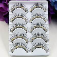 Sexy Natural Fulffy False Eyelash Gold Glitter Diamond Eye Lashes Stage Makeup