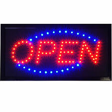"Led Open Store Shop Business Bar Cafe Coffee Lighted Window Sign 19x10"" pub neon"