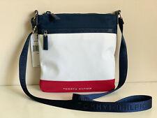 NEW! TOMMY HILFIGER WHITE RED NAVY BLUE NYLON CROSSBODY SLING MESSENGER BAG $68