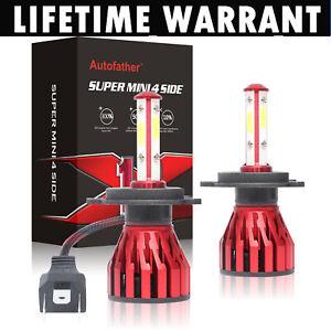 300W H4 9003 LED Car Headlight High Low Kit Replace Halogen Xenon HID Globe Bulb