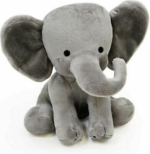 Stuffed Elephant Animal Plush Toy for Baby, Girls, Boys, Newborn -Gift  Gray