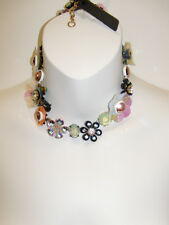 NWT J. Crew Sequin and Crystal Rose Statement Necklace F0847 NEW