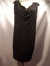 A.n.a  A new approach Womens Black Tunic dress Top Size L large
