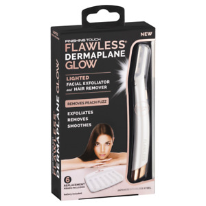 Dermaplane Glo Flawless Exfoliator Touch Facial Finishing Lighted Hair REMOVER
