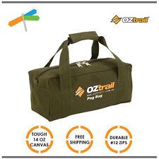 OZtrail Canvas Tool Storage Bag Heavy Duty Canvas Durable 46 x 18 x 15 cm Campin
