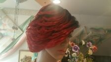 Women Wig Full Cap Feathered Cut Two Tone Wine/Black Tapered New Short Layered