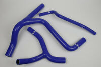 Silikon Kühlerschlauch Y-Kit Kawasaki  KXF450 2009 bis 2015 blau