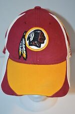 Washington Redskins Reebok Hat Cap Fitted M/L Maroon Yellow NFL Equipment Cotton