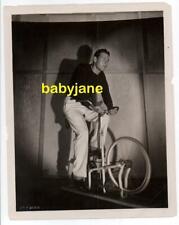RICHARD ARLEN ORIGINAL 8X10 PHOTO ON STATIONARY EXERCISE BIKE 1930's