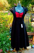 NWT  LINDY BOP RED AND BLACK SWING STYLE ROCK A BILLY DRESS XS