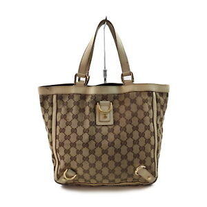 Gucci Hand Bag Abbey GG Light Brown Canvas 2402279