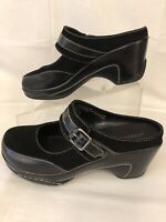 Merona Women's Wedge Heel Sandals Size 8 Mules Slides Black