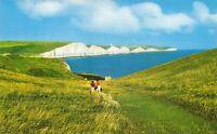 East Sussex Postcard, The Seven Sisters, Eastbourne, White Cliffs, Sea 15U
