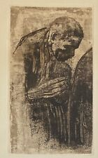 "Kathe Kollwitz  Original Etching - ""The Mourner""  1919"