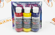 DVD + 6 colors  Createx Airbrush Colors Primary Set 2oz for airbrushing