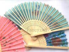 Wholesale 20 Pcs Chinese Silk folding Bamboo Hand Fan Fans Art Handmade Flower