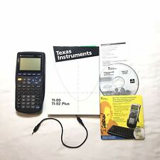 Ti-89 Graphing Calculator Texas Instruments with Cd Cable Book Manual