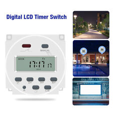 Digital Lcd Din Programmable Weekly Rail Timer Dc 12v Light Time Relay Switch
