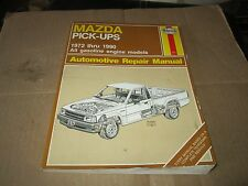 Mazda pickup B1600 b1800 b2000 SERVICE REPAIR MANUAL 1972 - 90 very good HAYNES