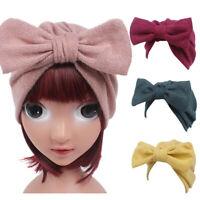 1PC Children Baby Girls Casual Knitting Hat Beanie Turban Head Wrap Cap Pile Cap