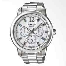 Casio Sheen MOP Dial Ladies' Fashion Stainless Steel Watch SHE-3802D-7ADR
