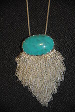 "SILPADA - N2888 - Stabilized Turquoise Sterling Silver ""Oasis"" Necklace NWOT"