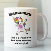 Mama Unicorn funny coffee mug for mother, Gift for mom tea cup birthday present
