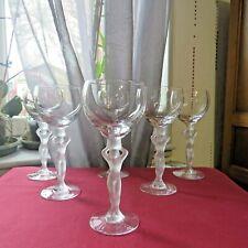 6 verres a vin rouge en cristal de bayel  Bacchus bacchante venus
