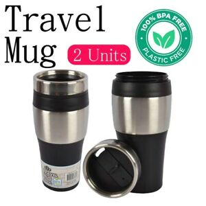 2x Hot Cold Drinks Thermos Water Travel Mug Vacuum Flask Insulated Coffee Cup