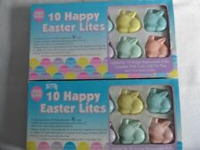 20 Happy Easter Bunny Spring Lites 2 new boxes String Lights add on plug