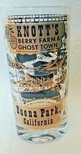 VINTAGE SOUVENIR GLASS ~ KNOTT'S BERRY FARM & GHOST TOWN, BUENA PARK CALIFORNIA