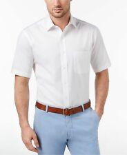 NEW $115 CLUB ROOM Men REGULAR-FIT WHITE SHORT-SLEEVE BUTTON DRESS SHIRT SIZE 15