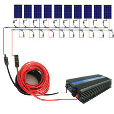 1000W grid tie solar system:10*100W solar panel&1KW inverter for RV Home system