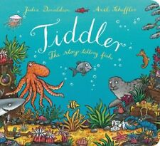 Julia Donaldson Story Book  - TIDDLER THE STORY TELLING FISH - Board Book - NEW