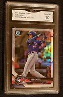 * GEM MINT 10 * BO BICHETTE 2018 BOWMAN CHROME REFRACTOR #BDC32 BLUE JAYS ROOKIE
