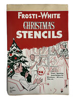 Frosti-White Vintage Christmas Window Stencils 3 Sheets Unused Old Stock