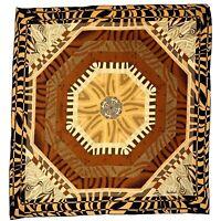 DAUIEL LAUREUT GEOMETRIC LARGE Foulard Silk Scarf 35/33 In