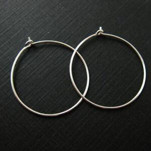 50 Silver Plated Brass Lead-safe 20,25,30,35mm Earwire Hoops ~ Wine Charm Rings