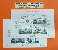 1987 ESPAMER 87 PRUEBA DE LUJO Nº1 EDIFIL 12+13 España MISMA NUMERACION NUEVAS