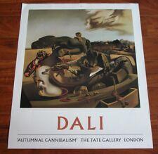 Vtg 70s Salvador Dali Autmnal Cannibalism Print Poster Tate Gallery London 1979